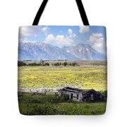 Homestead In The Grand Tetons Tote Bag