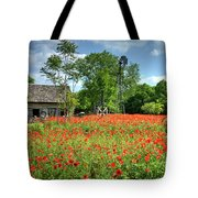 Homestead In The Poppies Tote Bag