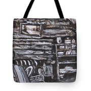 Homestead Interior Historical Vignette Tote Bag
