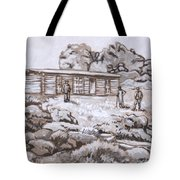 Homestead On Brush Creek Historical Vignette Tote Bag