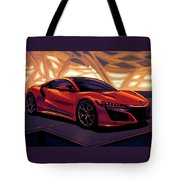 Honda Acura Nsx 2016 Mixed Media Tote Bag