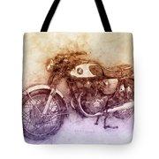 Honda Cb77 - Honda Motorcycles 2 - Motorcycle Poster - Automotive Art Tote Bag