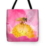 Honey Bee Collecting Pollen Tote Bag