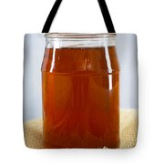 Honey In Clear Glass Jar Tote Bag