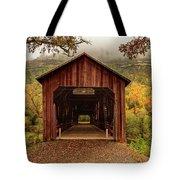 Honey Run Covered Bridge In Autumn Tote Bag