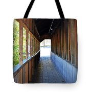 Honeymoon Bridge Sidewalk Tote Bag