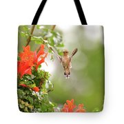 Honeysuckle Hummer Tote Bag