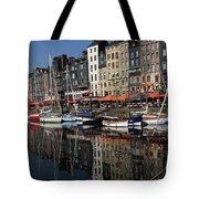 Honfleur Harbour France Tote Bag