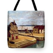 Honfleur  Houses On The Quay Tote Bag