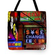 Hong Kong Sign 14 Tote Bag
