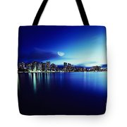 Honolulu At Night Tote Bag