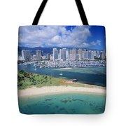 Honolulu, Oahu Tote Bag