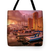 Honolulu Waterfront Oahu Tote Bag