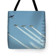 Honor Flight- Missing Man Formation Tote Bag