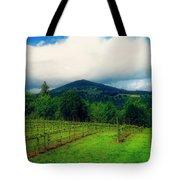 Hood River Oregon - Cloud Burst Over The Vineyard Tote Bag