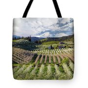Hood River Pear Orchards On A Cloudy Day Tote Bag