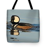 Hooded Merganser And Eel Tote Bag