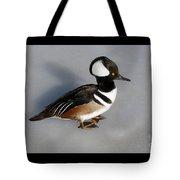 Hooded Merganser Duck Drake Tote Bag