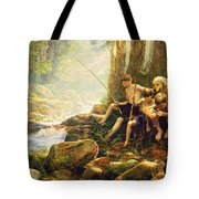 Hook Line And Summer Tote Bag by Greg Olsen