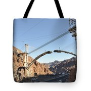 Hoover Dam Bypass Highway Under Construction Tote Bag