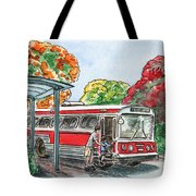 Hop On A Bus Tote Bag