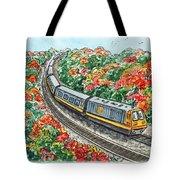 Hop On A Train Tote Bag