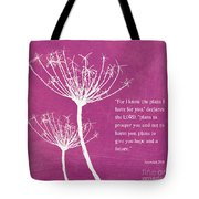 Hope And Future Tote Bag