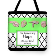 Hope - Bw Graphic Tote Bag