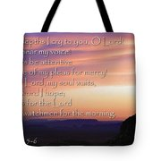 Hope For Morning Tote Bag