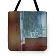 Hope In Prison Door Tote Bag