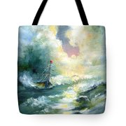 Hope In The Storm I Tote Bag