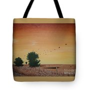 Hope Road With Black Birds Tote Bag