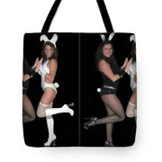 Hoppy Easter - Gently Cross Your Eyes And Focus On The Middle Image Tote Bag