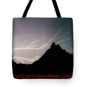 Horizonal Lightning Poster Tote Bag