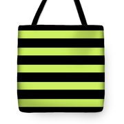 Horizontal Black Outside Stripes 05-p0169 Tote Bag