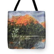 Horn Pond In Autumn Tote Bag