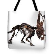 Horned Dinosaur Skeleton Tote Bag