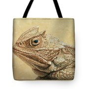 Horned Toad Tote Bag