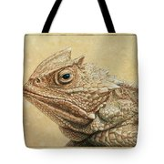 Horned Toad Tote Bag by James W Johnson