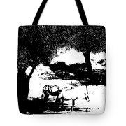 Horns And Shadows Tote Bag