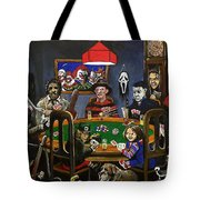 Horror Card Game Tote Bag by Tom Carlton