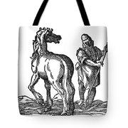 Horse & Groom Tote Bag