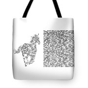 Horse 2 Black And White Tote Bag