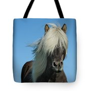 Horse And Blue Sky Tote Bag
