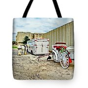 Horse And Buggie Tote Bag