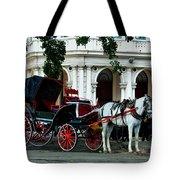 Horse And Buggy In Havana Tote Bag