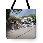 Horse And Buggy Tote Bag