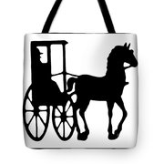 Horse And Buggy Vector Tote Bag