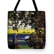 Horse And Flower Tote Bag