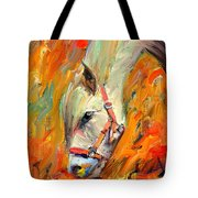 Horse And Grass Tote Bag